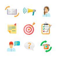 Conjunto de ícones Web de feedback