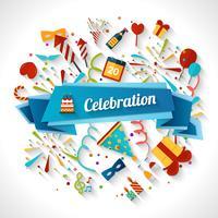 Ilustração de fundo de celebração