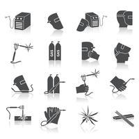 Conjunto de ícones de soldador