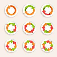 Ícone de seta do círculo vetor