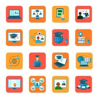 Conjunto de ícones de educação on-line