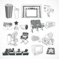 Cartaz de conceito de cinema vintage