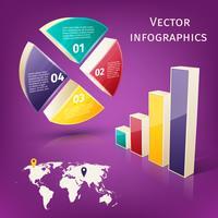 Conjunto de infográficos 3d