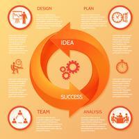 Infográfico de seta do círculo