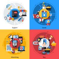 Conjunto de ícones de comércio eletrônico vetor