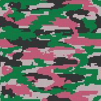 Textura sem emenda de confecção de malhas abstrata. Fundo decorativo militar do teste padrão da camuflagem. Ilustração vetorial.