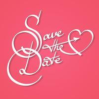 Salve a caligrafia de data vetor