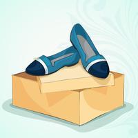 Apartamentos de balé azul feminino casual vetor