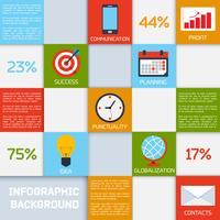 Quadrados de cor de infográfico de negócios vetor