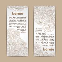 Banners ornamentais verticais vetor