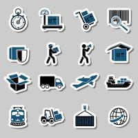 Coleção de adesivos de serviços de transporte