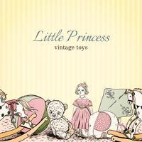 Folheto de loja de brinquedos vintage