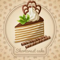 Rótulo de bolo shortcrust