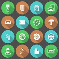 Conjunto de ícones de serviço de carro auto