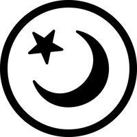 Ícone de lua crescente de vetor