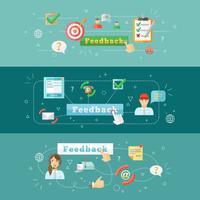 Infográfico de web de feedback