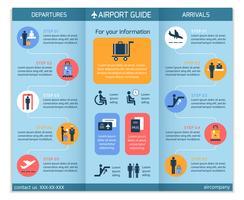 Folheto de infográfico de negócios de aeroporto