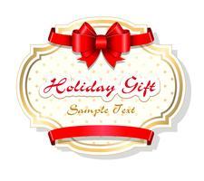 Modelo de cartão de presente de feriado