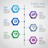 Infográficos de cronograma de papel