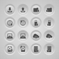 upload de ícones de download definido vetor