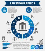 Infográfico de ícones de lei vetor
