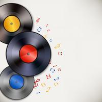 Fundo de discos de vinil vetor