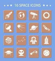 Botões de espaço e astronomia