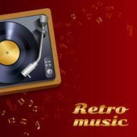 Cartaz de toca-discos de vinil vetor