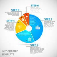 Infográfico de imóveis de gráfico de pizza