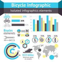 Elementos de infográfico de bicicleta