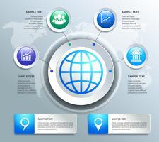 Elementos de design de infográficos de negócios de papel