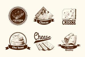 Rótulos de esboço de queijo