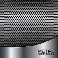 Fundo abstrato de metal com perfuração vetor