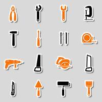 Coleção de adesivos de caixa de ferramentas