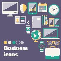 Conjunto de ícones de negócios vetor