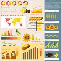 Elementos de infográfico de agricultura vetor