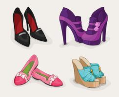 Coleção de moda de sapatos femininos