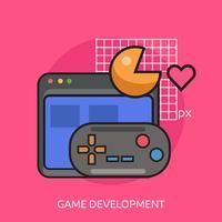 Game Development Conceptual illustration design vetor