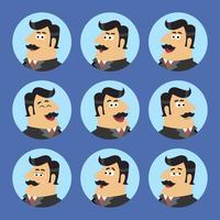 Conjunto de ícones de acionista de negócios