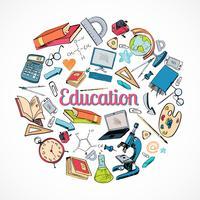 Doodle de ícone de educação
