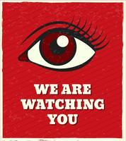 Olhando olho cartaz