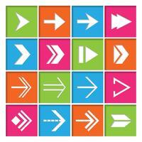 Conjunto de ícones de símbolos de seta vetor