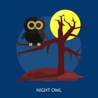 Ilustração conceitual de coruja de noite vetor