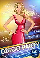 Cartaz de festa do clube de noite
