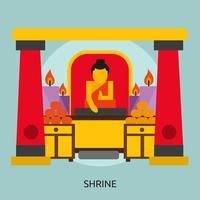 Santuário Conceptual illustration Design vetor