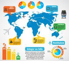 Conjunto de elementos de infográfico de turismo vetor
