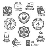 Etiqueta de serviço postal