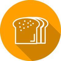 Ícone de pão de vetor