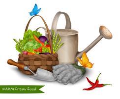 Conceito de comida fresca de fazenda