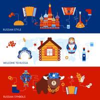 Conjunto de banner de viagens na Rússia vetor